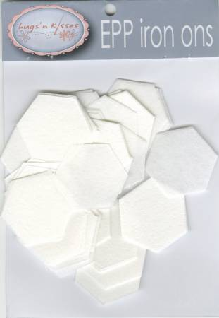 "1"" Inch Hexagon Iron-On Papers For English Paper Piecing x 100"