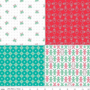 Fabric, COZY Christmas by Lori Holt of Bee in My Bonnet - PANEL, Red FQ