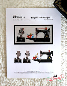 Counted Cross Stitch KIT, Singer Featherweight 221 - 14 Count Aida Cloth