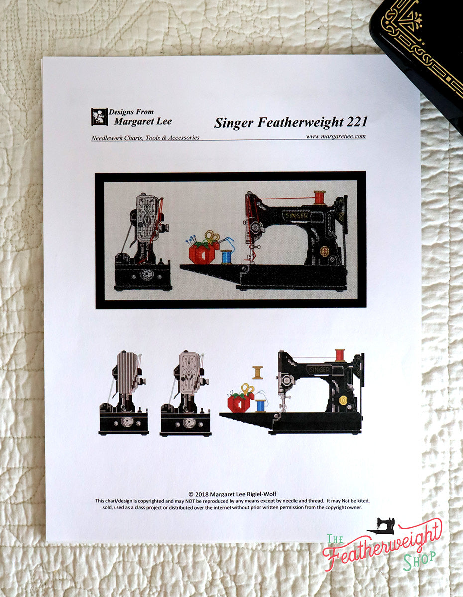 Counted Cross Stitch PRINTED PATTERN, Singer Featherweight 221 (Pattern Only)