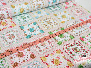 Load image into Gallery viewer, Fabric, Granny Chic by Lori Holt of Bee in My Bonnet - HANDKERCHIEF MULTI (by the yard)