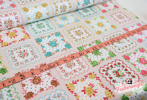 Fabric, Granny Chic by Lori Holt of Bee in My Bonnet - HANDKERCHIEF MULTI (by the yard)