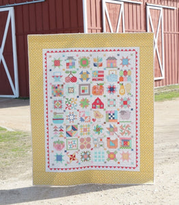 "Quilt Kit, ""FARM GIRL VINTAGE"" Fabric Collection - by Lori Holt for Riley Blake"
