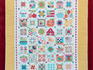 "Load image into Gallery viewer, Quilt Kit, ""FARM GIRL VINTAGE"" Fabric Collection - by Lori Holt for Riley Blake"