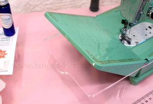 Sew Steady CLEAR Singer Featherweight Table Extension ONLY (SHIPS DIRECTLY FROM MANUFACTURER)