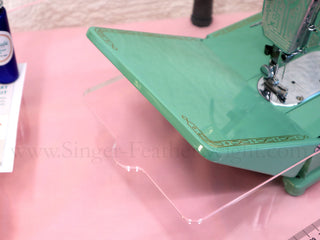 Load image into Gallery viewer, Sew Steady CLEAR Singer Featherweight Table Extension + BAG