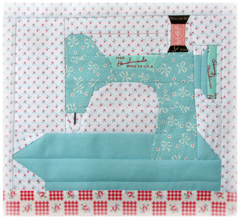 "Pattern, In The Studio ""My Featherweight"" Paper-Pieced Quilt Block (digital download)"