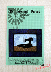 PATTERN, Featherweight Pieces Quilt Wall-Hanging (Paper Pieced)