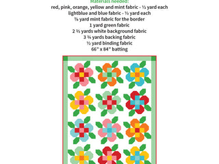 Load image into Gallery viewer, Pattern, Flower Garden Quilt by Ellis & Higgs (digital download)