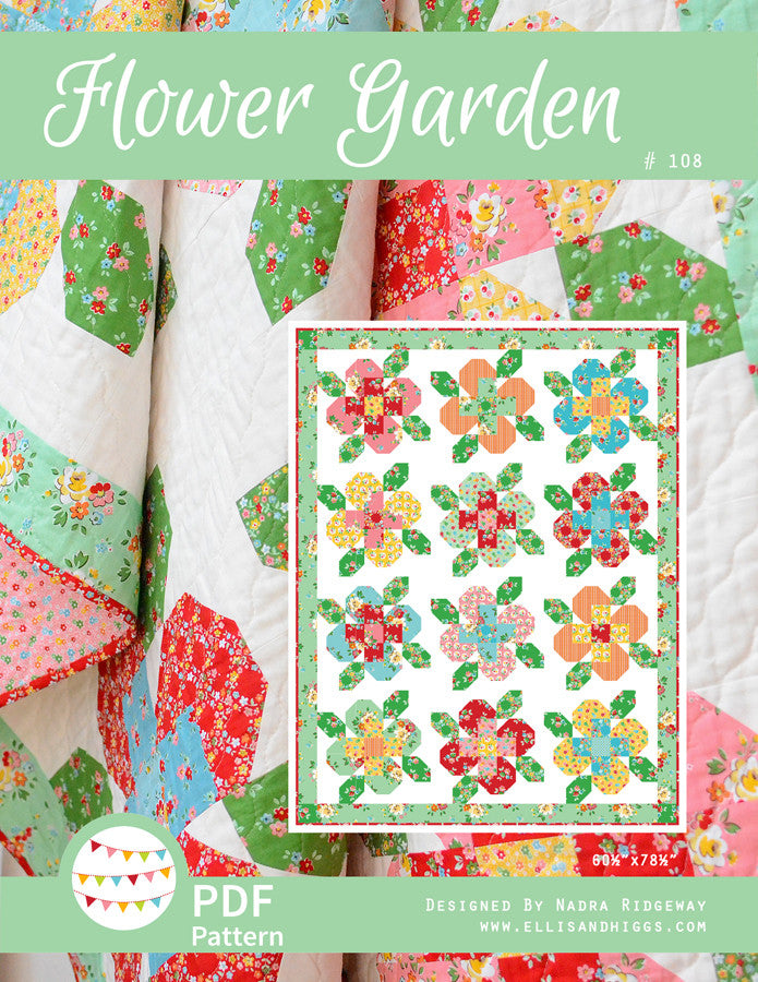 Pattern, Flower Garden Quilt by Ellis & Higgs (digital download)