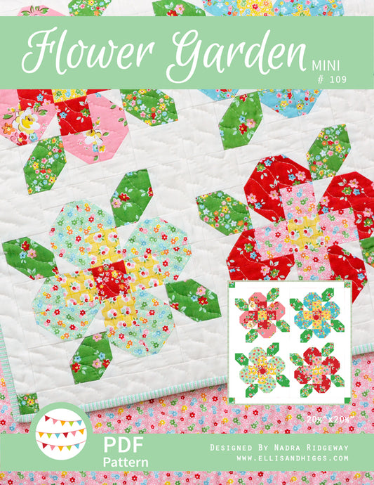 Pattern, Flower Garden MINI Quilt by Ellis & Higgs (digital download)