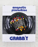 Magnetic Round Pin Cushion GRABBIT - BLACK