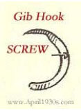SCREW, Gib Hook (NS)