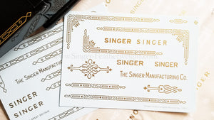 Decals, Gold Celtic Knot Style for the Singer Featherweight 221, 221K Sewing Machine 1933-1937