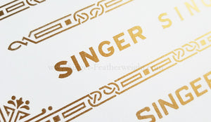 Decals, Celtic Knot Style for the Singer Featherweight 221, 221K Sewing Machine 1937-1953