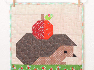 Load image into Gallery viewer, Pattern, Hedgehog & Apple MINI Quilt by Ellis & Higgs (digital download)