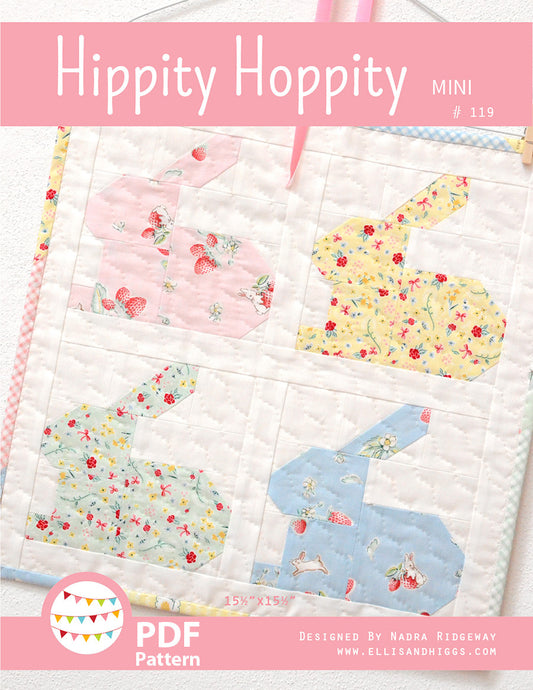 Pattern, Hippity Hoppity MINI Quilt by Ellis & Higgs (digital download)