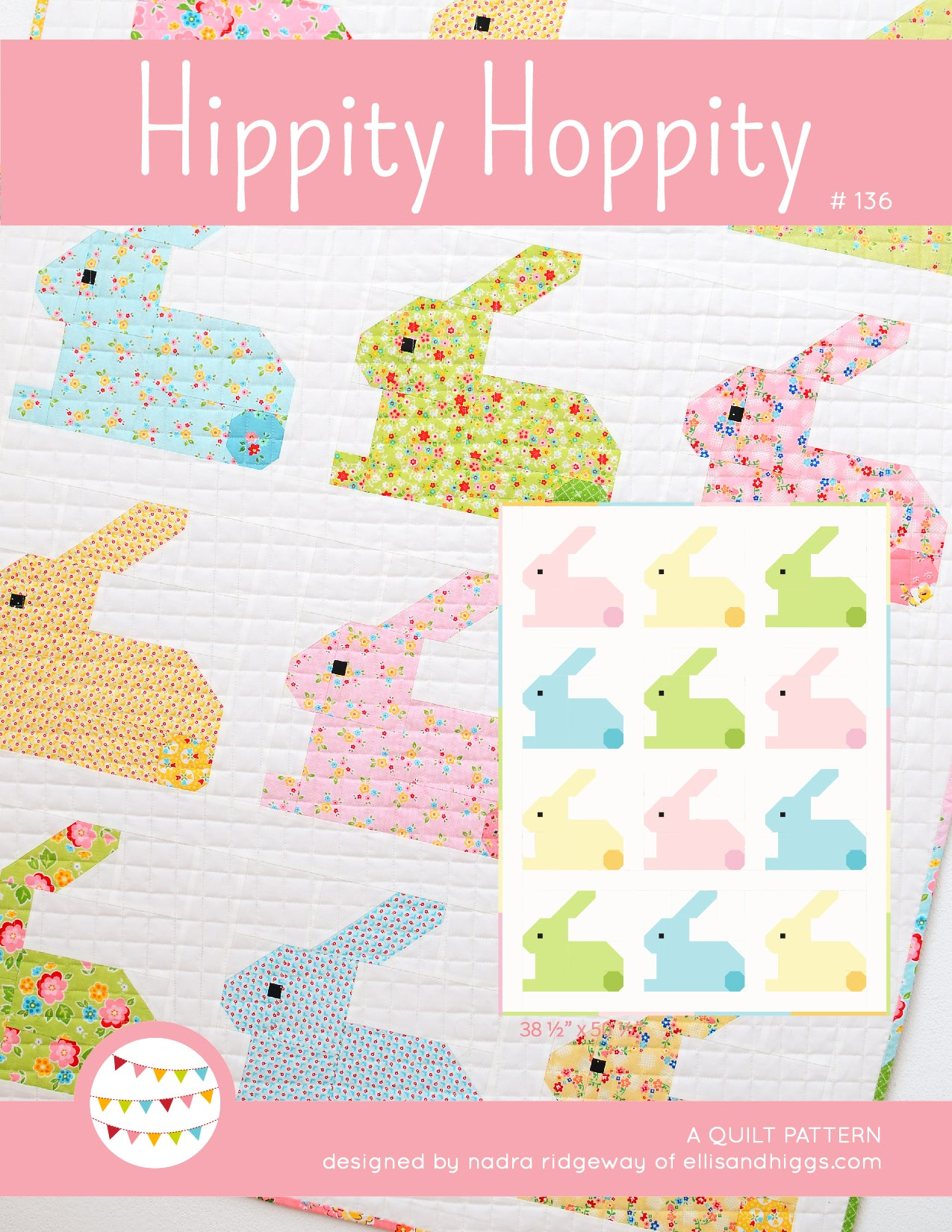 Baby Quilt Patterns.Pattern Hippity Hoppity Baby Quilt By Ellis Higgs Digital