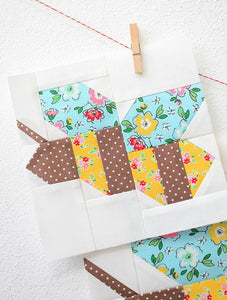 Pattern, Honey Bee Quilt Block by Ellis & Higgs (digital download)