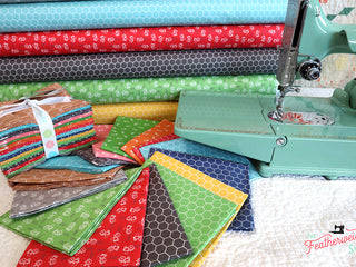 Load image into Gallery viewer, Fabric, Farm Girl Vintage Companion Prints by Lori Holt of Bee in My Bonnet - FAT QUARTER BUNDLE