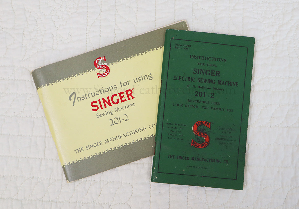 Manual, Singer 201 (Vintage Original)