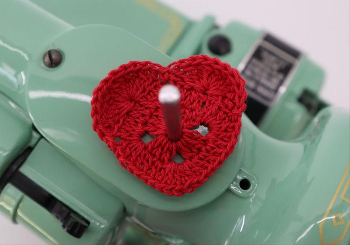 Spool Pin Doily - Heart