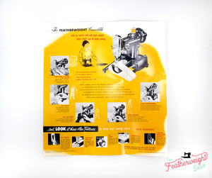 Advertisement Leaflets, Replica Featuring the Singer Featherweight