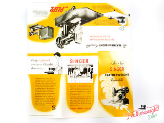 Load image into Gallery viewer, Advertisement Leaflets, Replica Featuring the Singer Featherweight