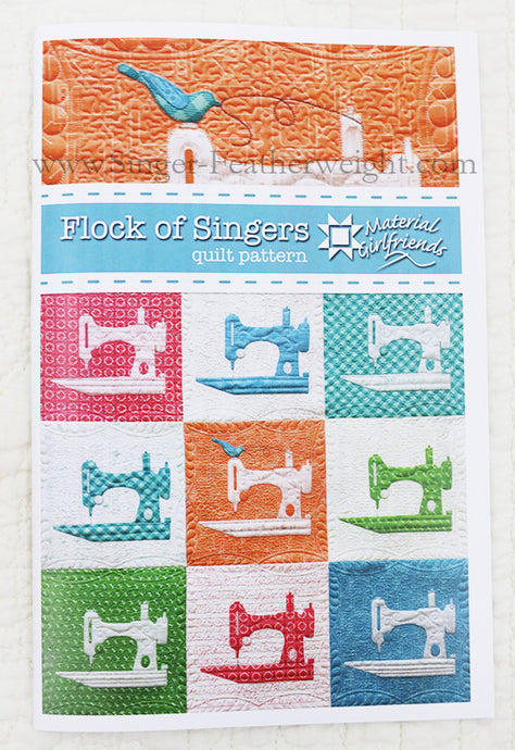 PATTERN, FLOCK OF SINGER Wall-Hanging Quilt