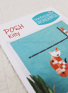 "PATTERN, ""POSH Kitty"" Quilt by Sew Kind of Wonderful"