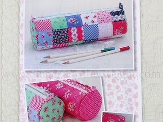 Load image into Gallery viewer, PATTERN, ROUND PENCIL CASE by Kristyne Czepuryk Pretty by Hand