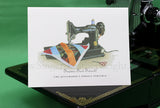 """Seams Sew Sweet"" Boxed Set of 5 Featherweight Greeting Cards"
