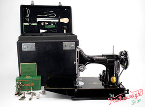 Singer Featherweight 221 Sewing Machine, AF391*** - Corduroy Insert - RARE