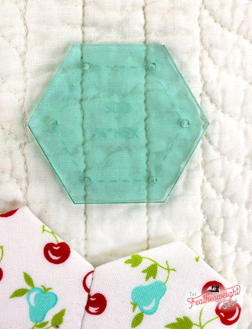 "Sue Daley 3/4"" Hexagon Template For Paper Piecing"