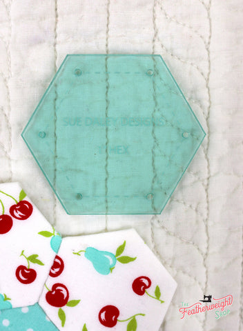 "Sue Daley 1"" Hexagon Template For English Paper Piecing"