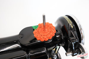 Spool Pin Doily - Pumpkin
