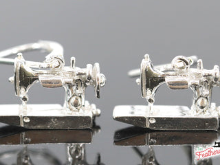 Load image into Gallery viewer, Jewelry, Singer FEATHERWEIGHT 221 Sterling Silver, EARRINGS