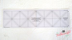 "PATTERN  - Laundry Basket Quilts Paper Piecing Sheets - 1 1/2"" HALF SQUARE TRIANGLE"