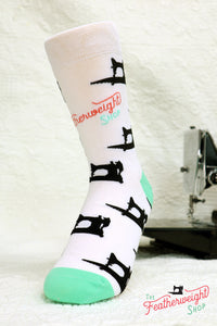 Quilt Socks, Black Singer 221 222 Featherweights - Featherweight Shop Design