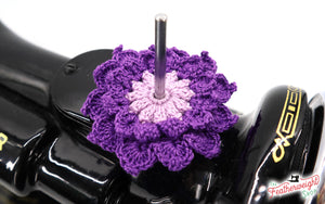 Spool Pin Doily - Two Tone Layered Flower