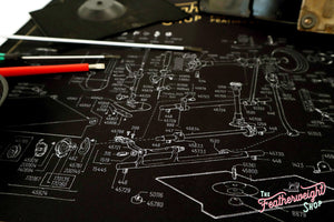 Servicing Mat, Featherweight Schematic