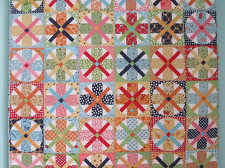 Load image into Gallery viewer, PATTERN, Bee in my Bonnet Tumble Dry Quilt Pattern by Lori Holt