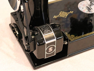 Load image into Gallery viewer, Singer Featherweight 221 Sewing Machine, AF384*** - Top Decal and Corduroy Insert - RARE