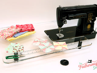 Load image into Gallery viewer, Sew Steady CLEAR Singer 301 Table Extension + BAG- SHORTBED
