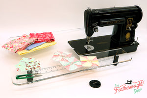 Sew Steady CLEAR Singer 301 Table Extension + BAG- SHORTBED
