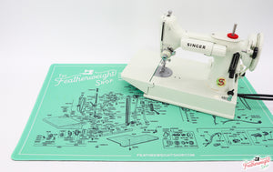 Servicing Mat - GREEN, Featherweight Schematic for White 221K7 Machine