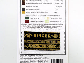 "Load image into Gallery viewer, PATTERN, ""My Other Machine"" Wallhanging by Sue Pritt (featuring the Singer Featherweight)"