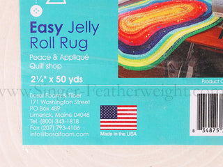 "Load image into Gallery viewer, Batting, Pre-Cut For Jelly-Roll Rugs 2 1/2"" x 50 yards"