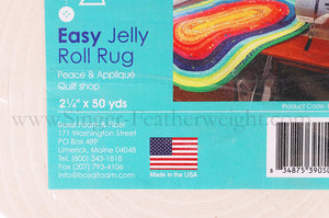 "Batting, Pre-Cut For Jelly-Roll Rugs 2 1/2"" x 50 yards"