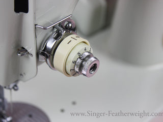 Load image into Gallery viewer, Plus and Minus Indicator Dial, White Singer Featherweight 221K (Vintage Original)